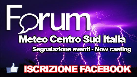 Iscrizione gratuita al Forum Meteo del Centro Sud Italia