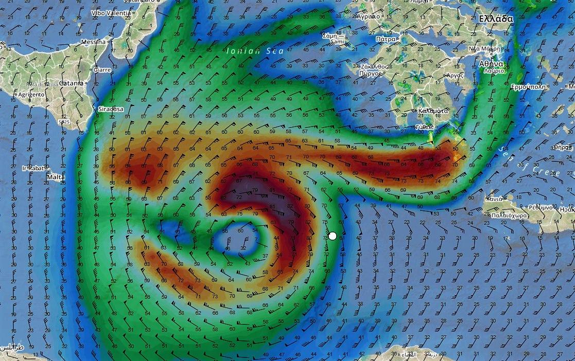 E' il giorno dell'uragano Medicane: sulla sua strada Catania e Siracusa