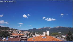 Webcam di Isernia - Panorama da Via Latina verso Miranda