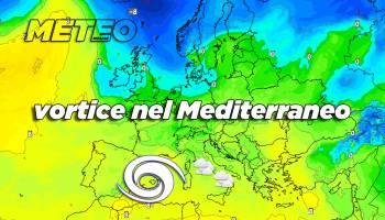 Vortice mediterraneo meteo variabile