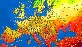Temperature Europa situazione attuale