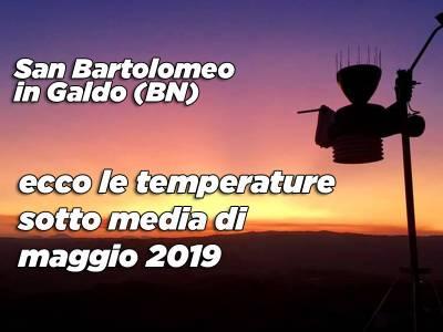 Meteo S.Bartolomeo in Galdo, riepilogo dati climatici