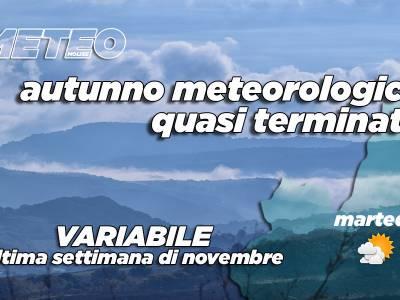 Ultima settimana di novembre variabile