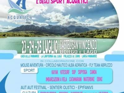 Festival dell'acqua e degli sport acquatici in Molise 23 - 24 - 25 luglio 2021