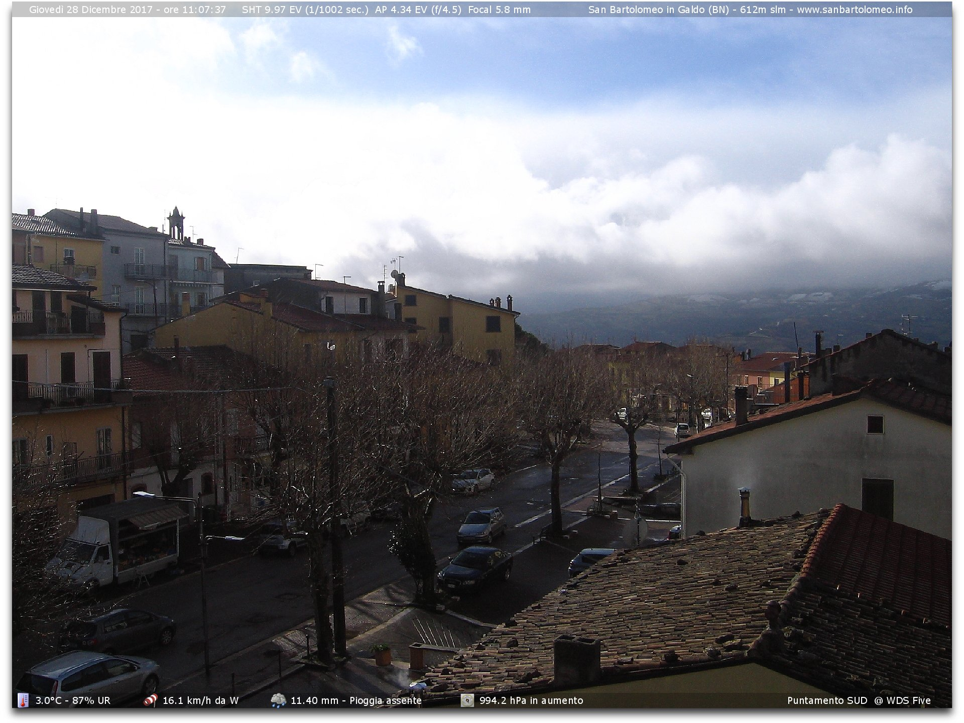 Webcam panoramica su via pasquale circelli dalla villa for In diretta dalla camera